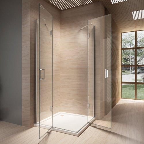 duschkabine 90 90 glas xm12 hitoiro. Black Bedroom Furniture Sets. Home Design Ideas